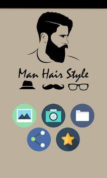 men hair beard style poster