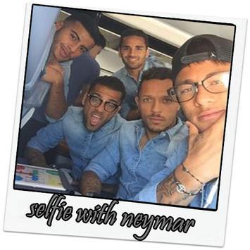 selfie with neymar hd poster