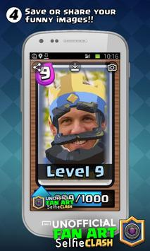 Selfie FAN for Clash Royale apk screenshot
