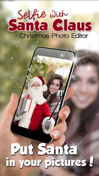 Selfie With Santa Claus Christmas Photo Editor poster