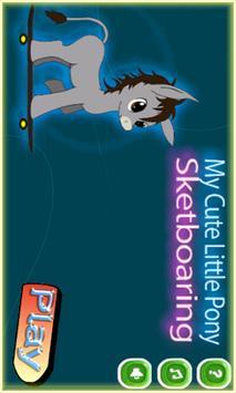 My Adventurer Little Pony Skateboarding poster