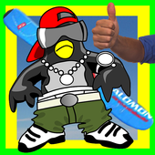 Penguin On A Snowboard icon