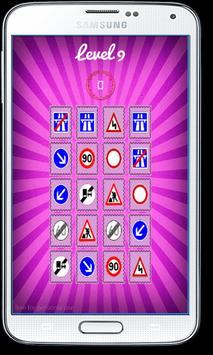 Road Signs Test Matching Games apk screenshot