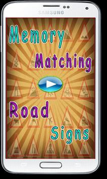 Memory Matching Road Signs poster