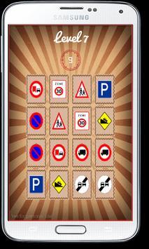 Memory Matching Road Signs apk screenshot