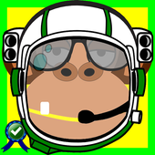 Monkey Astronaut In The Moon icon