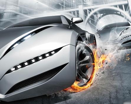 Neon Racing Car Hologram Tech screenshot 4