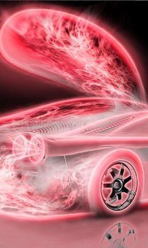 Neon Racing Car Hologram Tech poster