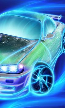 Neon Racing Car Hologram Tech screenshot 1