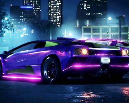 Neon Racing Car Hologram Tech screenshot 3