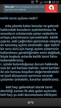 Tarot Falı ücretsiz  türkçe keltik açılımı screenshot 4