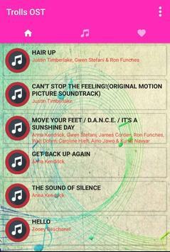 Ost. for Trolls Song + Lyrics apk screenshot