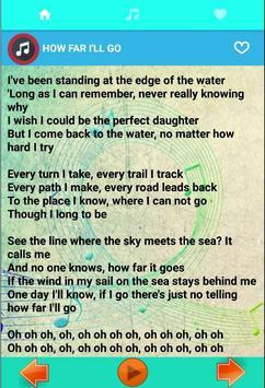 Ost. for Moana Song + Lyrics apk screenshot