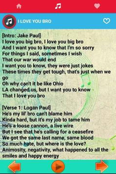 Song for Jake Paul Music + Lyrics apk screenshot