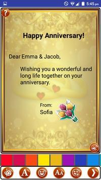 Make Marriage Anniversary Greetings Wedding Card screenshot 3