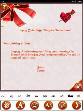 Make Marriage Anniversary Greetings Wedding Card screenshot 11