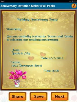Anniversary invitation cards for android apk download anniversary invitation cards screenshot 18 stopboris Choice Image