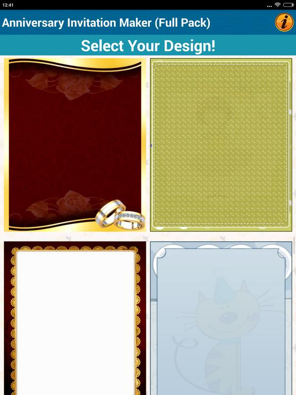 Anniversary invitation cards for android apk download anniversary invitation cards screenshot 16 stopboris Gallery