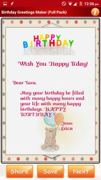 Design Birthday Greeting Cards screenshot 7