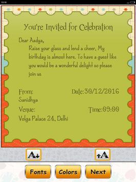 Birthday invitation card maker apk download free tools app for birthday invitation card maker apk screenshot stopboris Image collections