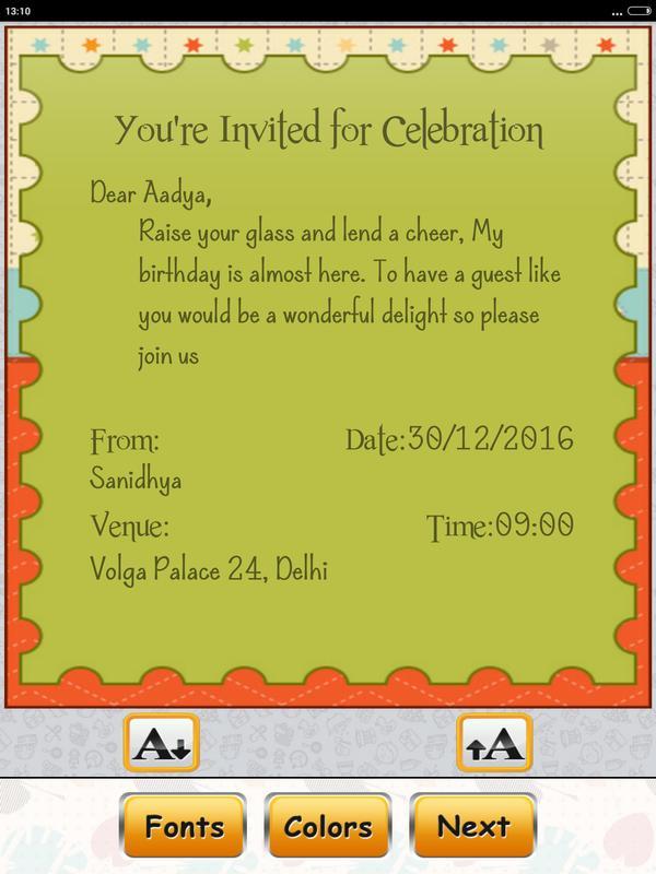 Birthday invitation card maker apk download free tools app for birthday invitation card maker apk screenshot stopboris Image collections