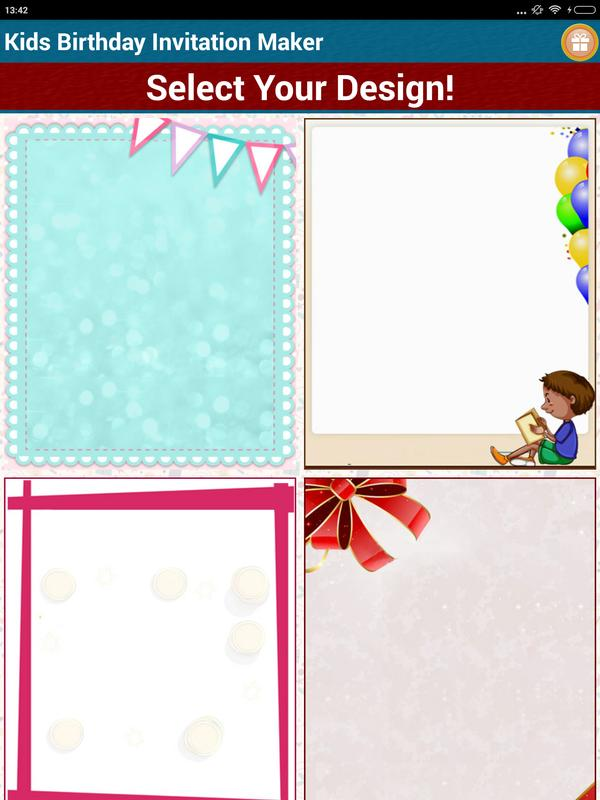 Amazing kids birthday invitation templates embellishment resume kids birthday invitation maker apk download free tools app for stopboris Image collections