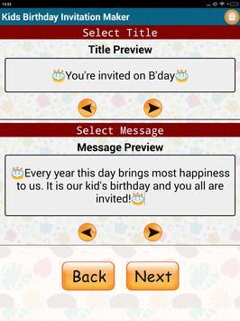 Kids birthday invitation maker apk download free tools app for kids birthday invitation maker apk screenshot stopboris Choice Image