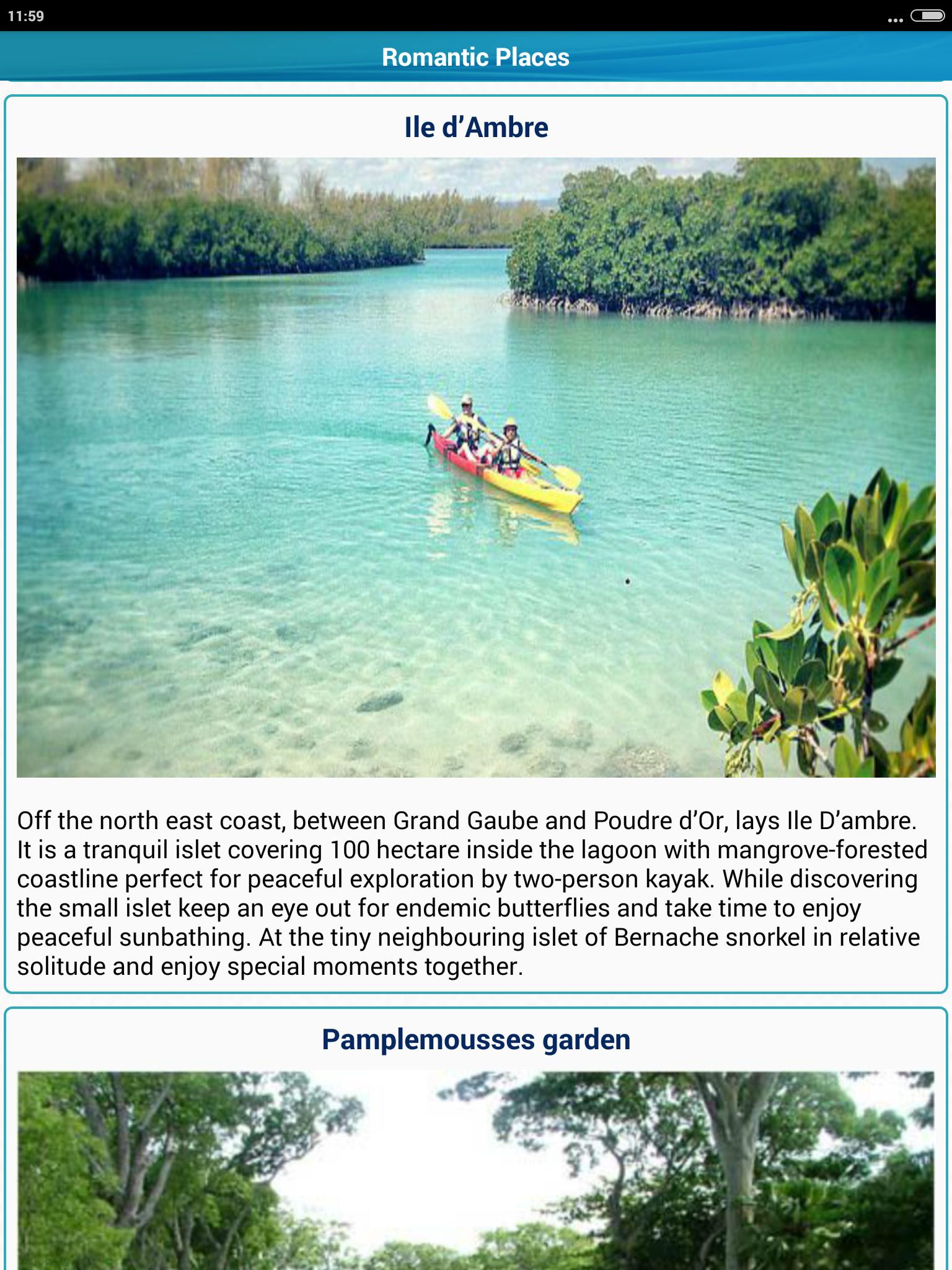 Mauritius Popular Tourist Places Tourism Guide for Android