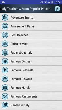 Italy Popular Tourist Places poster