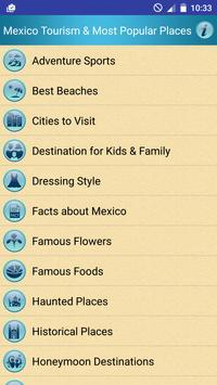 Mexico Popular Tourist Places screenshot 1