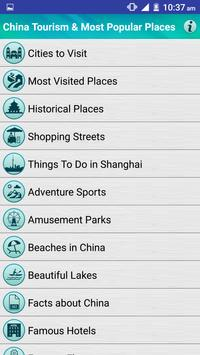 China Popular Tourist Places poster