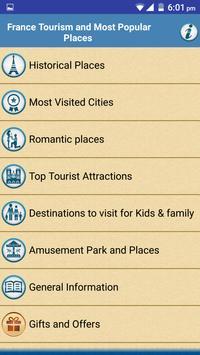 France Popular Tourist Places poster