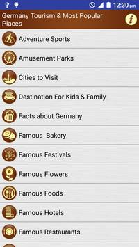 Germany Popular Tourist Places poster