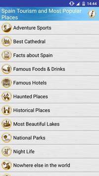 Spain Popular Tourist Places poster