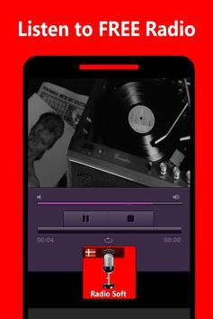 Spilleren til Radio Soft Danmark Not Official apk screenshot