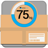 Shipping digital scale icon