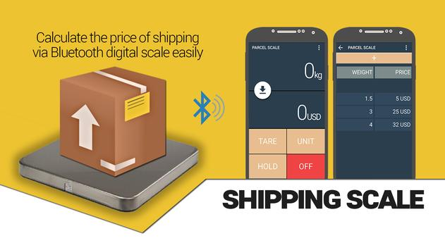 Shipping digital scale poster