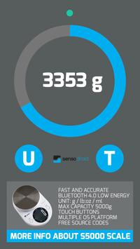 Digital bluetooth Scale S5000 connection test app screenshot 3