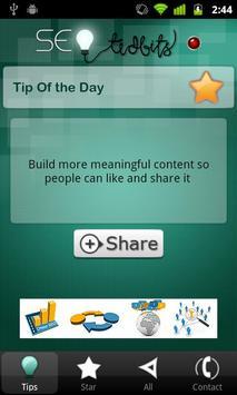 SEO TidBits for Daily SEO Tips screenshot 1