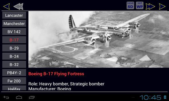World War II Aircraft Bombers poster