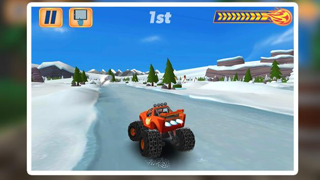 Blaze Light Truck Monster Machine Games screenshot 1