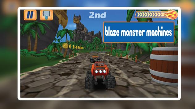 Blaze Light Truck Monster Machine Games screenshot 2