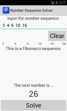 Number Sequence Solver apk screenshot