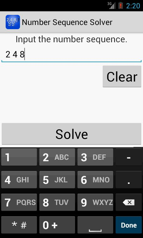 Number Sequence Solver for Android - APK Download