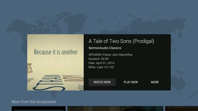 SermonAudio TV Edition screenshot 1