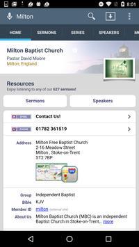 Milton Baptist Church poster