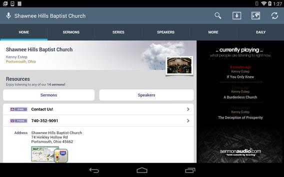 Shawnee Hills Baptist Church apk screenshot