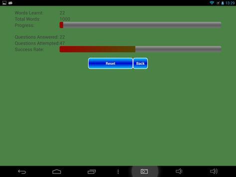Simple Vocabulary Trainer apk screenshot