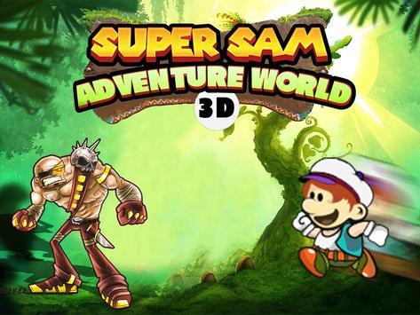Super Sam Adventure World 3D poster