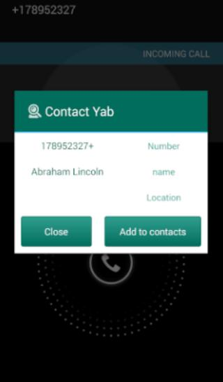 Contact Yab poster